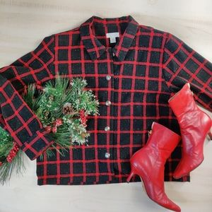 Christopher & Banks red plaid button shirt 4/$25